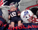 baby boy crochet new england patriots football hat