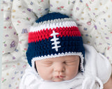 New England Patriots Baby Boy Crochet Hat