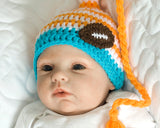 Miami Dolphins Baby Crochet Football Hat Photo Prop