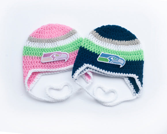 Seahawks Football Baby Logo Hats