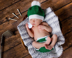 Irish Baby Boy Golf Tam Hat Green White Golf Outfit