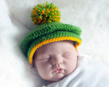 Baby Golf Hat Green and Gold