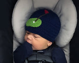 Navy Blue Baby Boy Golf Beanie Hat
