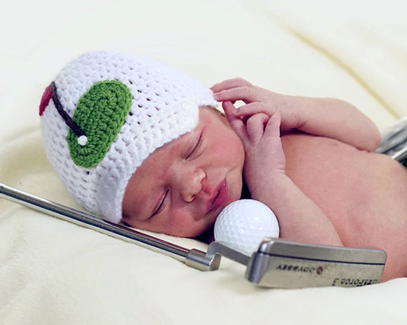 Baby Boy Golf Peaked Cap Newborn Photography