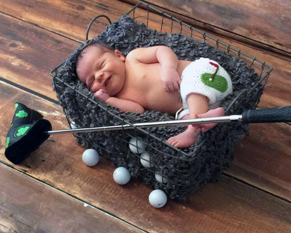 Baby Golf White Shorts Crochet Newborn Photography Prop