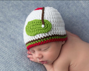 Baby Golf Striped Beanie Hat Red Green White Newborn Photo