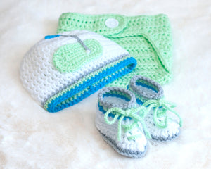Baby Boy Golf Crochet Mint Green