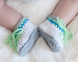 Baby Golf Crochet Mint Green Shoes