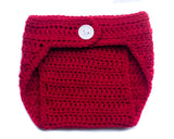Baby Girl Crocheted Red Diaper Cover