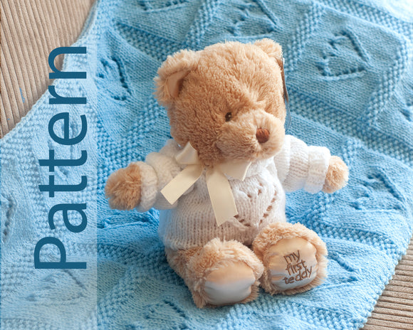 Knitted Baby Blanket & Bear Sweater Pattern