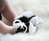 Grandmabilt Crocheted Baby Hockey Skates