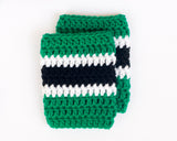 Stars Hockey Baby Boy Crochet Socks