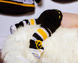 Bruins or Penguins Hockey Crochet Pants Socks & Skates