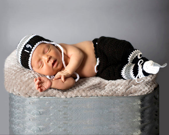 Baby Hockey Crochet LA Kings Hat Pants Socks Skates Newborn Photography