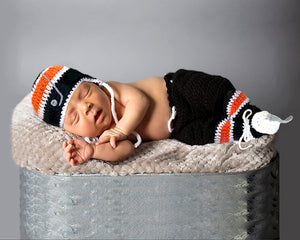 Flyers Hockey Baby Boy Crochet Hat Outfit Newborn Photography