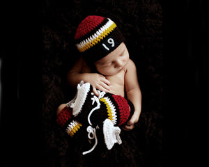 Baby Calgary Flames Crochet Newborn Photography Outfit