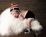 Blackhawks Hockey Baby Boy Crochet Hat Diaper Cover & Skates