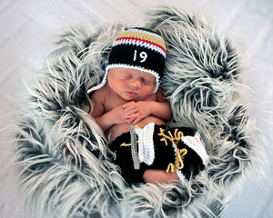 Golden Knights Hockey Baby Boy Hat Pants & Skates