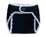 Crochet Baby Black Diaper Cover