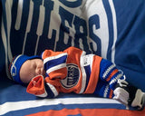 Oilers Hockey Baby Crochet Hat Pants Socks Skates Newborn Photography