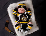 Bruins Hockey Baby Boy Outfit Newborn Photography