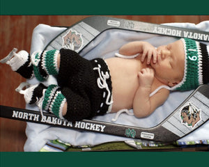 Dallas Stars Baby Hockey North Dakota Sioux Newborn Photography