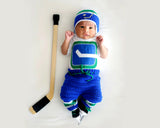 Vancouver Canucks Hockey Hat Pants Socks Skates Outfit