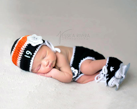 Baby Girl Philadelphia Flyers Crochet Hockey Newborn Photography