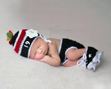 Crochet Baby Girl Chicago Blackhawks Hockey Photography Prop
