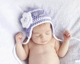 Baby Girl Hockey Hat Lilac White Baby Photography