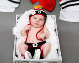 Baby Girl Chicago Blackhawks Hockey Hat Diaper Skates Newborn Photography