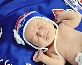 Baby Girl Hockey Crochet Rangers Blue Red Hat Newborn Photo