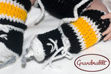 Crocheting Baby Hockey Socks Skates Pattern