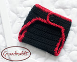 Blackhawks Hockey Logo Baby Boy Crochet Diaper Cover