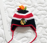 Blackhawks Hockey Logo Baby Boy Crochet Hat