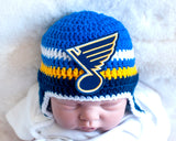 Blues Hockey Logo Baby Hat Crochet