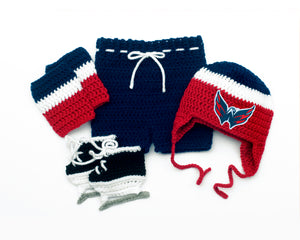 Capitals Hockey Logo Baby Boy Outfit