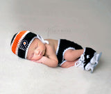 Flyers Hockey Logo Baby Boy Crochet Outfit