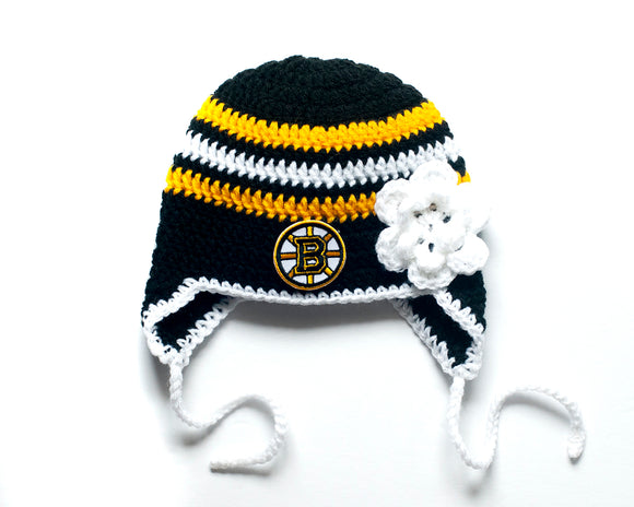 Bruins Hockey Logo Girls Hat Crochet