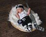 Kings Hockey Logo Crochet Baby Girl Outfit