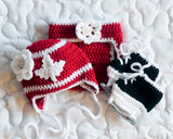 Maple Leaf Hockey Baby Girl Red and White Crochet