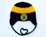 Bruins Hockey Logo Crochet Hat