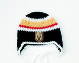 Golden Knights Hockey Logo Baby Boy Crocheted Hat