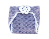 Baby Girl Hockey Diaper Cover Lilac White Baby Photography