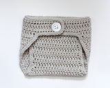 Baby Girl Baby Boy Crochet Gray Diaper Cover