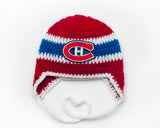 Canadiens Hockey Logo Baby Boy Crochet Hat