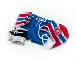 Canadiens Hockey Logo Baby Boy Crochet Outfit