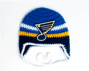 St. Louis Blues Hockey Logo Baby Hat Crochet