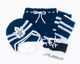 Maple Leafs Logo Hockey Baby Boy Hat Pants Socks & Skates