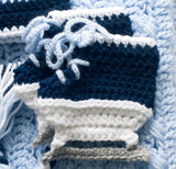 Maple Leafs Hockey Crochet Baby Skates